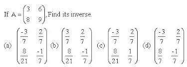 inverse matrix high mathematics 2 kwiznet math