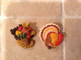 thanksgiving pins vintage hallmark thanksgiving pins 2 plastic turkey and