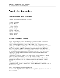 Security Guard Job Description For Resume by Mall Security Guard Cover Letter