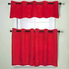Modern Kitchen Valance Curtains by Best 25 Red Kitchen Curtains Ideas On Pinterest Kitchen