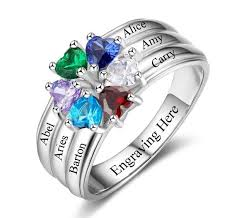 family rings for mothers rings and family rings think engraved