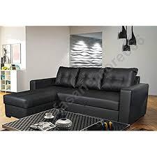 black leather sofa bed amazon co uk