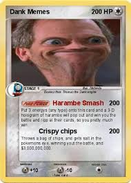 Pokemon Card Meme - pokémon dank memes 20 20 harambe smash my pokemon card