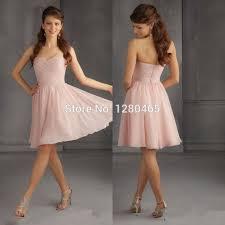 Cheap Brides Dresses 2015 Short Blush Pink Bridesmaid Dress Short Prom Dress Cheap