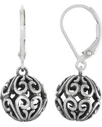 womens earrings spectacular deal on sterling silver filigree drop earrings