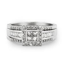 wedding rings at galaxy co 9ct white gold diamond tripset galaxy and co