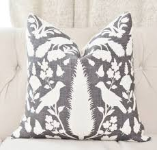 schumacher chenonceau pillow cover charcoal pillow cover