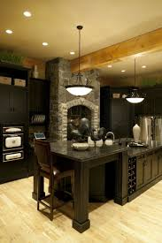 Kitchen Floor Ideas With Dark Cabinets Dark Kitchen Cabinets With Light Wood Floors Outofhome