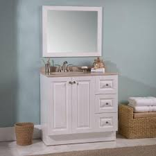 Glacier Bay Cabinet Doors by Glacier Bay Bannister 36 5 In W Vanity In White With Colorpoint