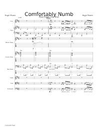 Comfortably Numb Orchestra Comfortably Numb Roger Waters Sheet Music For Vocal And Choral