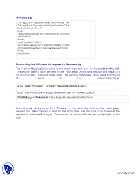 Request Mapping Understanding Struts Controller Java Programming Lecture Handouts