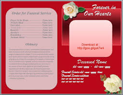 downloadable funeral program templates 79 best funeral program templates for ms word to images