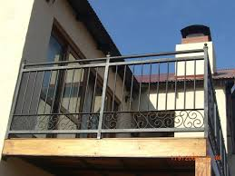 exterior mind blowing black iron front porch balcony hand railing