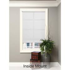hampton bay window treatments the home depot cut to width white cordless light filtering 5 mil vinyl roller shade