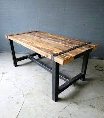 reclaimed wood table with metal legs industrial mango wood metal dining table zin home reclaimed wood