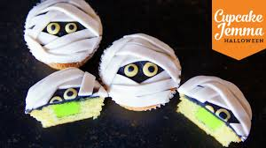 Halloween Cupcakes Skeleton by Lime Slime Filled Mummy Cupcakes Cupcake Jemma Halloween