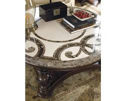 thomasville round coffee table trebbiano round cocktail table stone top thomasville furniture