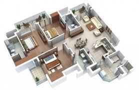 house design with floor plan 3d 3 bedroom home design plans modern bungalow floor plan 3d small 3