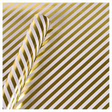 gold wrapping paper gold foil diagonal stripe gift wrap spritz target
