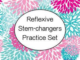 spanish stem changing reflexive verbs worksheets practice set tpt