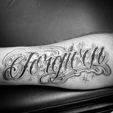 30 forgiven tattoo designs for men word ink ideas