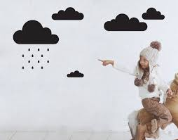 rain clouds your decal shop nz designer wall art decals wall rain clouds