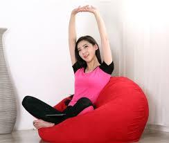 casa super size bean bag sofa red 2 5kg 1 seater sofa sofa