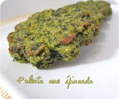 cuisiner epinard polenta aux épinards cuisine et dépendances