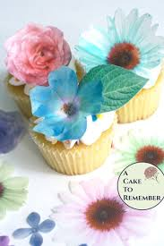 Edible Cake Decorating Paper Edible Flowers 24 Wafer Paper Flowers And Leaves For Cake