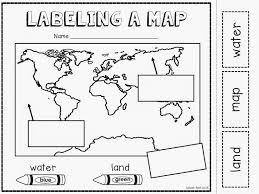 globe and maps worksheet map worksheets for kindergarten wiildcreative
