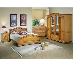 chambre à coucher chêtre lit chêne pied boule 140 x 190 rustic 5458