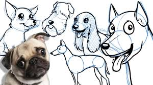 cartoon drawing of dog how to draw a cute cartoon beagle cartoon