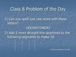 class 1 problem of the day ppt video online download
