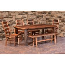almanzo barnwood dining table square leg amish crafted furniture