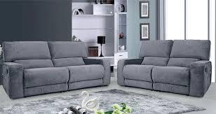 Grey Sofa Recliner Carriss Fabrtic Recliner Sofa Set Grey Grey Reclining Sofa Nobita