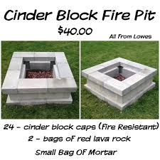 Firepit Blocks Diy Cinderblock Firepit Idea