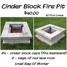 Block Firepit Diy Cinderblock Firepit Idea