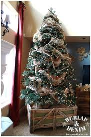 burlap christmas tree burlap tree garland bazaraurorita
