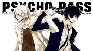 shogo makishima shinya kogami psycho pass anime pinterest