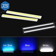 cob led light bar 2pcs super bright white ice blue blue car cob led lights drl bar