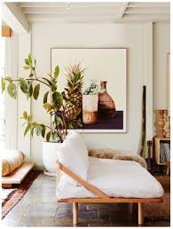 achieve a modern bohemian living space with indoor plants wood
