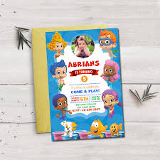 bubble guppies invitation bubble guppies birthday bubble guppies