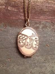 Monogram Locket Necklace Rare Estate Piece Spitzer U0026 Fuhrmann 18k Yellow Gold Necklace