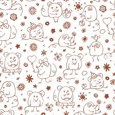 vector funny mouse seamless pattern hand drawn cartoon doodle mice