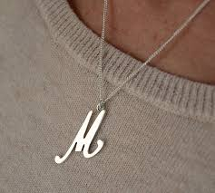 silver necklace with letter images Alphabet sterling silver necklace by letteroom jpg