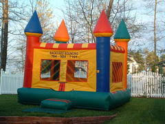 backyard bouncing bounce house rentals and slides for parties in