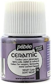 buy pebeo ceramic air dry china paint light violet 2 pieces