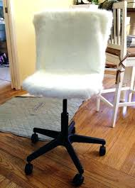 Desk Chair Modern Faux Fur Desk Chair Cover Office Embossed Or Chalkboard Wall Fur