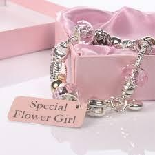flower girl charm bracelet flower girl pink bead charm bracelet the gift experience