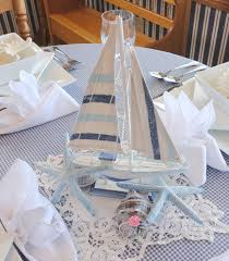 Sailboat Centerpieces Nautical Theme - nautical centerpieces with lighthouses and monkey u0027s fist